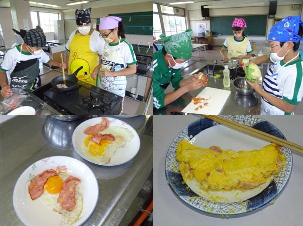調理実習6年生| 翁島(おきなしま)小学校ホームページ